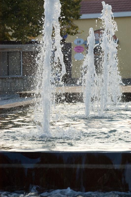 Begehbarer Springbrunnen