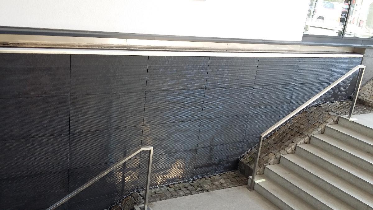 Wandbrunnen mit Überlauf - Einkaufzentrum