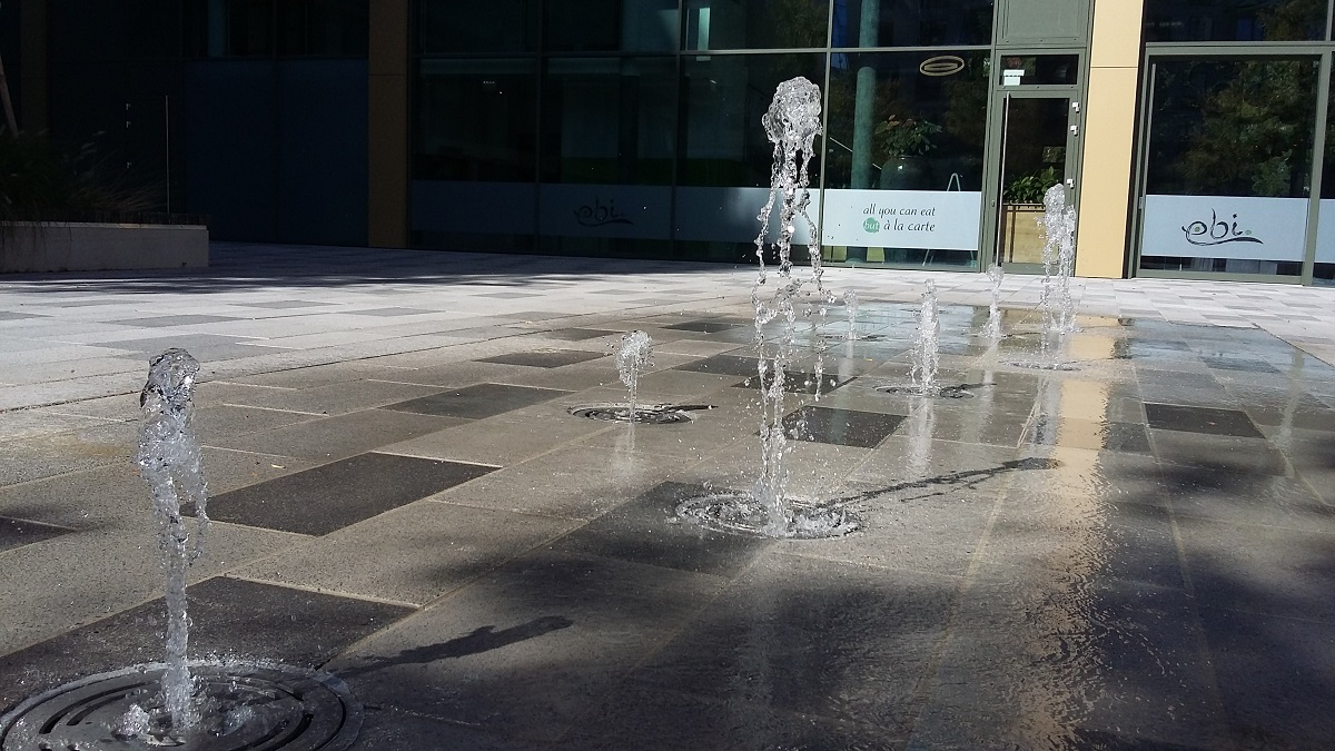 Springbrunnen Laendyard 1030 Wien